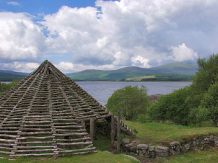 Clatteringshaws Loch roundhouse